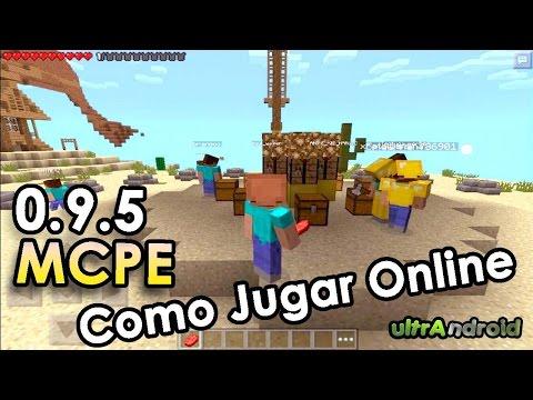 Como Jugar Online/Multijugador/Juegos del Hambre/Minecraft Pocket Edition 0.9.5 y 0.10.4 2014