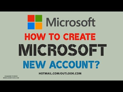 How to Create a MicroSoft New Account 2018?