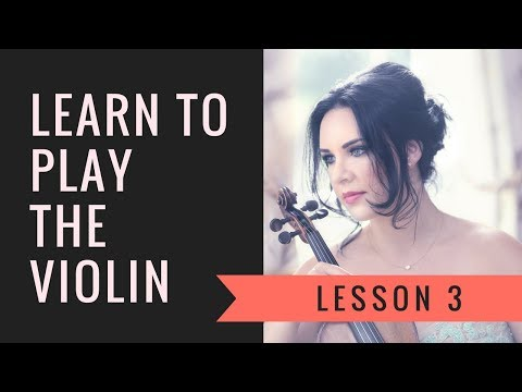 Learn the VIOLIN | EASY | Lesson 3/20 - Names of strings & other notes