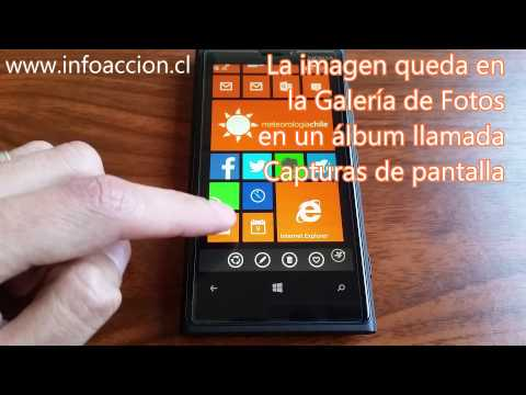 Cómo realizar una captura de pantalla en un Windows Phone 8.1
