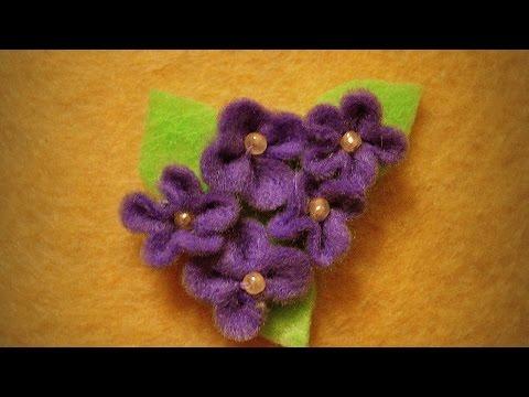 Make a Felt Lilac Branch Brooch - DIY Style - Guidecentral