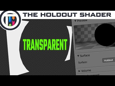 Blender Tutorial - How to use the Holdout Shader