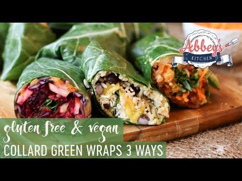 VEGAN Collard Green Wraps THREE Ways | Gluten Free | Low Carb