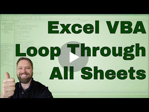How to Loop through Sheets in a Workbook in Excel VBA (Macros) - Code Included