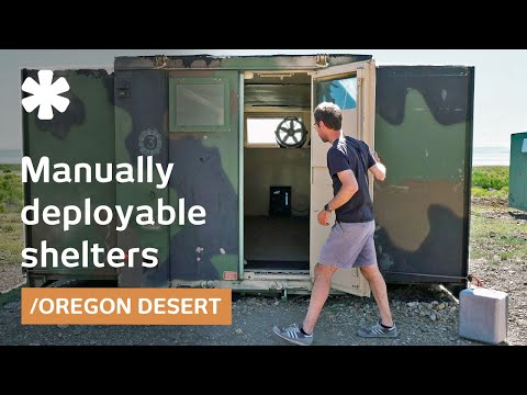 Experiments in off-grid deployable shelters on Oregon dry lake