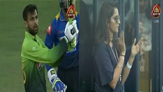 Shoaib Malik Brilliant 81 Runs Off just 61 Balls vs sri lanka | Sania Mirza celebrating pictures
