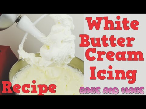 How to make white buttercream icing recipe tutorial. Bake and Make with Angela Capeski