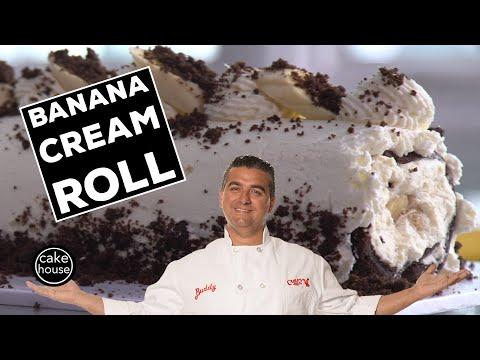 The Cake Boss's Banana Cream Roll Cake | Fast Cakes Ep09