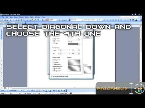 Microsoft Word 2003 Tutorial :: Cool Button Design
