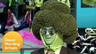 Piers and Susanna's Awkward Interview With Climate Change Activist Mr Broccoli   GMB