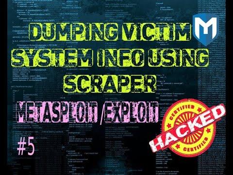 Metasploit  #5 How to get system information using scraper in Metasploit