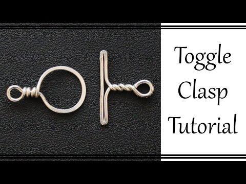 How to Make a Wire Wrapped Toggle Clasp - Easy Beginner Jewelry Tutorial
