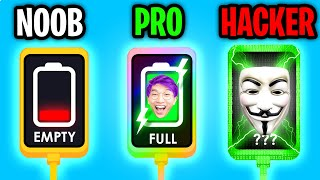Can We Go NOOB vs PRO vs HACKER In RECHARGE PLEASE!? (ALL LEVELS!)
