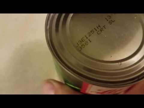 Canned carrots hissing from shelf