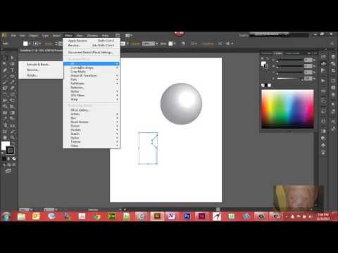 Create 3D Effects in Illustrator CS6 -  Sphere and Vase Example