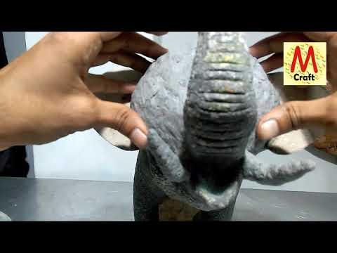 DIY Elephant paper mache full tutorial