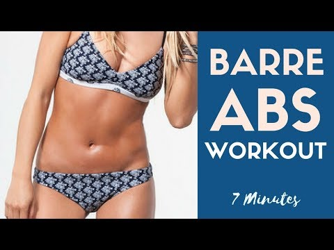 7 Minute Barre Abs Workout | Toned Abs