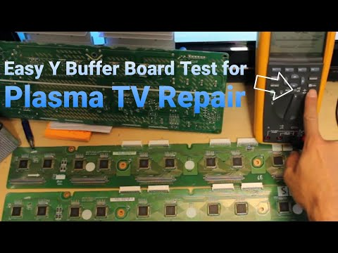How to Test a Y Buffer Board Plasma TV FAST AND EASY