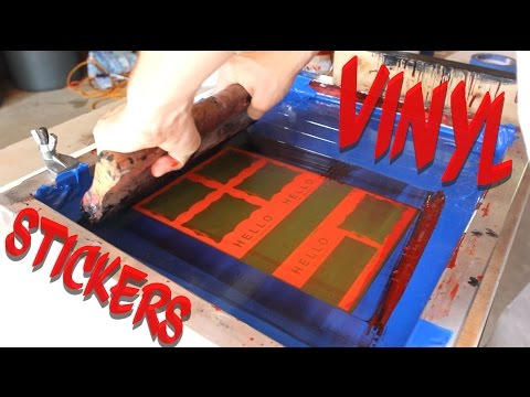 How to Screen Print Vinyl Stickers With Solvent Ink