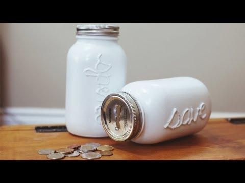 DIY MASON COIN JAR/ PIGGY BANK