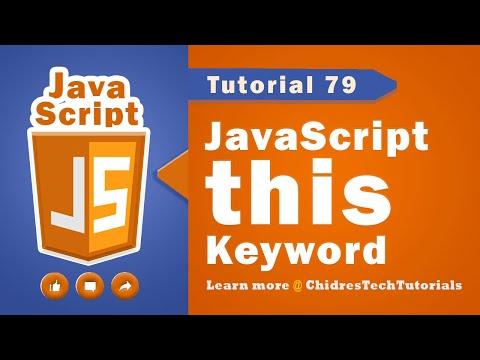 JavaScript tutorial 96 - this keyword & flow of execution of code