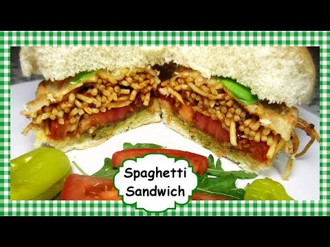 Spaghetti Sandwich Recipe ~ Spaghetti Sandwich using Leftover Spaghetti