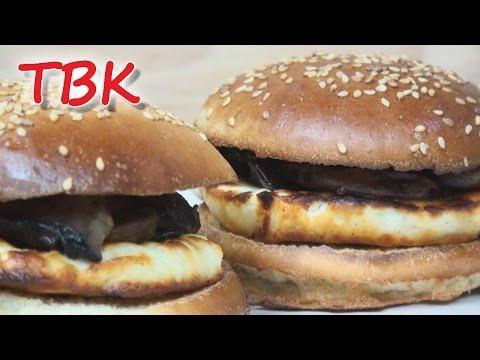 The Ultimate Cheeseburger Recipe - Halloumi & Mushroom