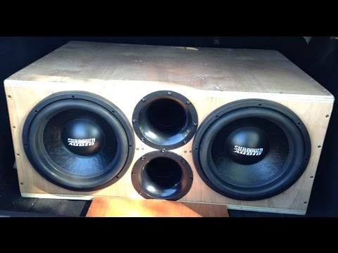 Dual 12 inch sub box re build 5