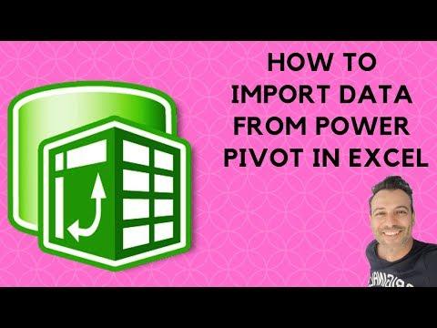 Excel Powerpivot basics: How to import data from PowerPivot tab