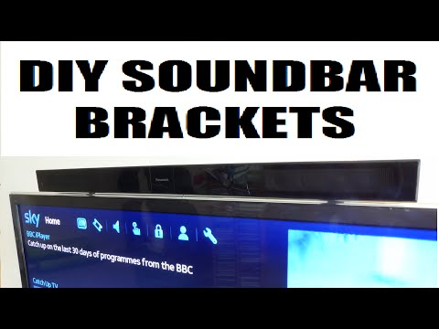 How to make cheap & easy diy tv soundbar brackets