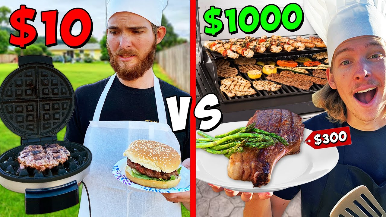 $10 vs $1000 EXTREME BBQ Challenge! *BUDGET BATTLE*