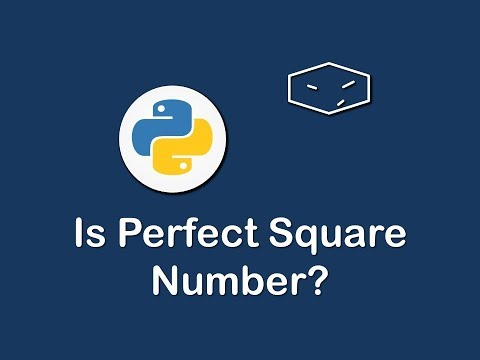is perfect square number in python