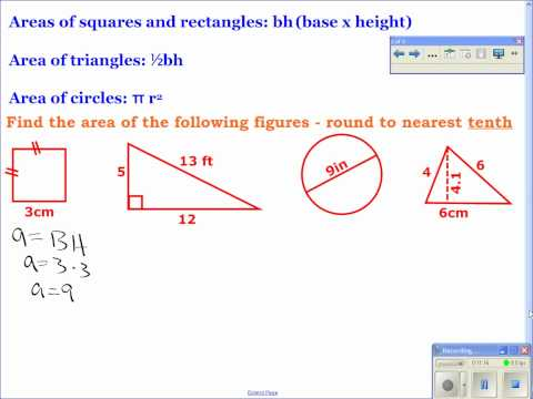 Geometry - 1-7: Find Perimeter, Circumference, and Area