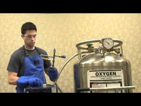 Filling a Liquid Oxygen CAIRE Reservoir From a Bulk Tank