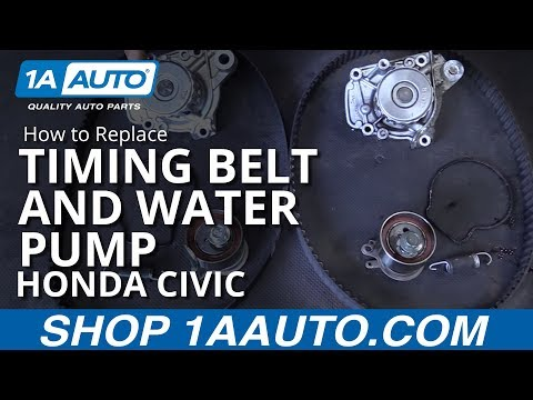 How to Install Replace Timing Belt and Water Pump 2001-05 Honda Civic