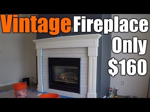 How To Make A Vintage Fireplace Mantel pt1 | THE HANDYMAN |