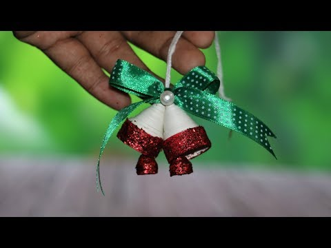 Paper Quilling Christmas Bells | DIY Christmas Tree Ornaments | Little Crafties