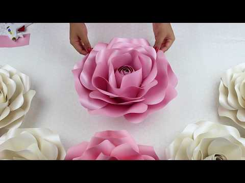 Diy Rose Tutorial (Large Size Paper Rose)