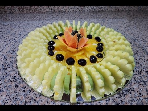 HOW TO CUT AND SERVE SLICED FRUIT - By J. Pereira Art Carving