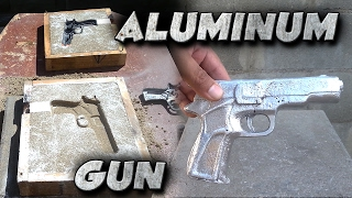 Casting A 9mm Toy Gun Into Solid Aluminum Not Lost Foam