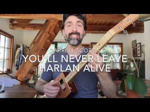 You'll Never Leave Harlan Alive: 1 finger cigar box guitar lesson