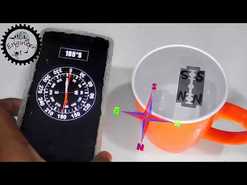 DIY Compass | Home made Compass | how to make a magnetic compass | Stupid Engineer.