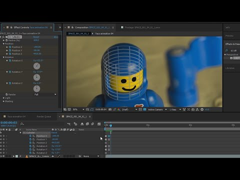 LEGO Face Animation and Tracking in After Effects