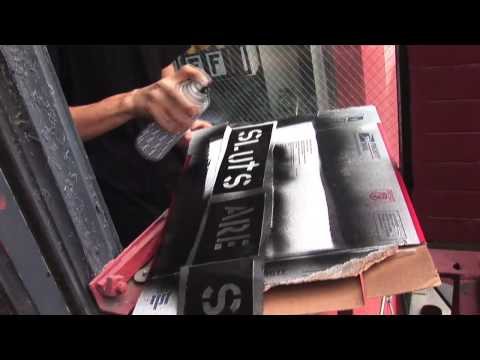 Fashion Enemy: Stencil Letters & Spray Painting