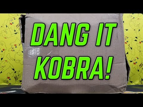 DANG IT KOBRA! He sent us ANOTHER giant box of Pokemon cards!!!