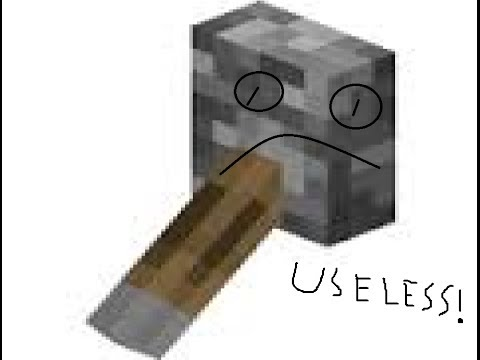 Minecraft   How to make a useless lever!