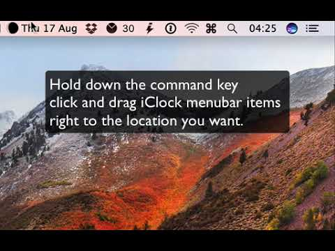 iClock App For Mac How To Move Time And Date In The Menubar