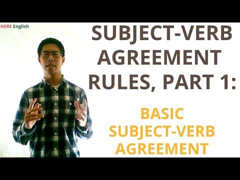 Subject Verb Agreement (Grammar Lesson), Part 1 - Basic Subject Verb Agreement