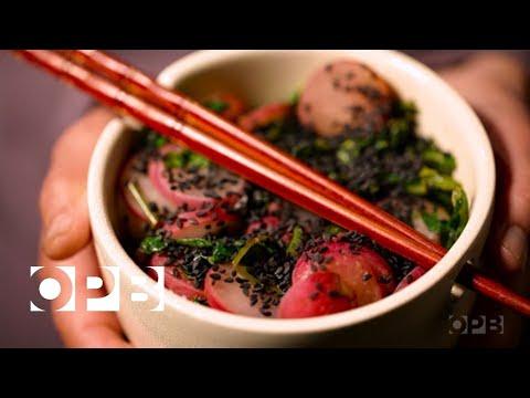 Sautéed-Radish Rice Bowls