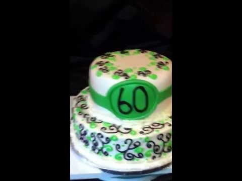 60th birthday cake with light scroll work ! Check me out on FB as jjsweettooth or jjsweettooth.com